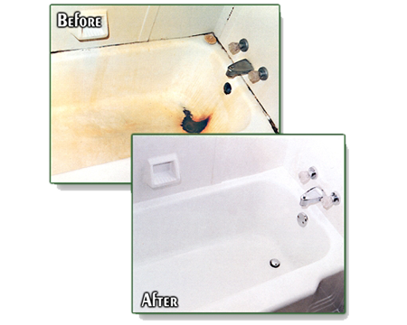 Before and After Bath Tubs