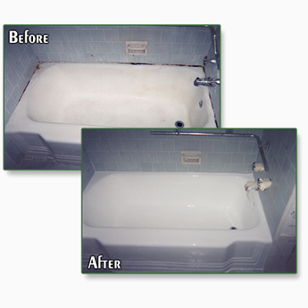 Clean Bath Tub Before and After